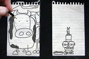 铅笔涂鸦创意动画7