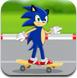 索尼克玩滑板