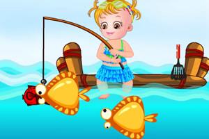 可爱宝贝钓鱼