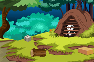 被困的熊猫逃脱